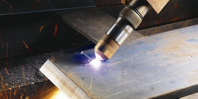 Angle the torch to pierce through a thick plate