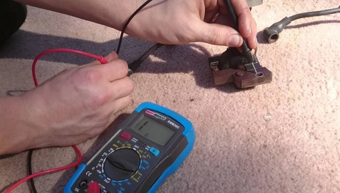 How to test coil on lawn mower by an ohmmeter