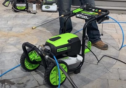 How to connect an electric pressure washer
