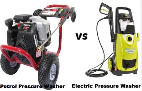 Petrol Pressure Washer Vs. Electric