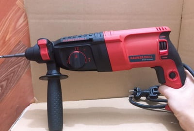 Hammer drill is best for drilling into masonry.