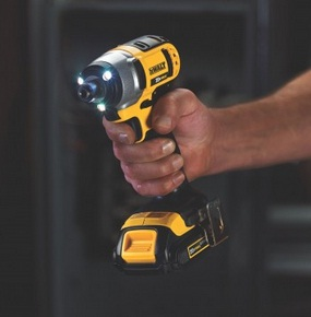 The LED light in an impact driver