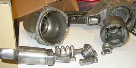 The impact wrench is used to tighten and remove nuts.